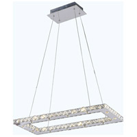 Elegant Lighting Atom 24 Light LED Dining Chandelier in Chrome with Royal Cut Clear Crystal 2060D28C/RC - Open Box
