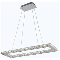Atom LED 12 inch Chrome Dining Chandelier Ceiling Light