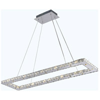 Elegant Lighting Atom 32 Light LED Dining Chandelier in Chrome with Royal Cut Clear Crystal 2060D42C/RC