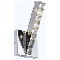 Elegant Lighting Atom 3 Light LED Wall Sconce in Chrome with Royal Cut Clear Crystal 2060W5C/RC