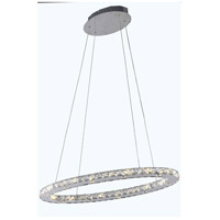 Elegant Lighting Atom 18 Light LED Dining Chandelier in Chrome with Royal Cut Clear Crystal 2061D28C/RC - Open Box