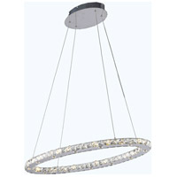 Elegant Lighting Atom 24 Light LED Dining Chandelier in Chrome with Royal Cut Clear Crystal 2061D34C/RC - Open Box