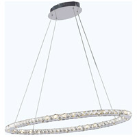 Elegant Lighting Atom 32 Light LED Dining Chandelier in Chrome with Royal Cut Clear Crystal 2061D42C/RC