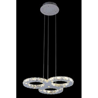Elegant Lighting Atom 20 Light LED Dining Chandelier in Chrome with Royal Cut Clear Crystal 2063D22C/RC