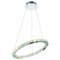 Elegant Lighting Atom 24 Light LED Dining Chandelier in Chrome with Royal Cut Clear Crystal 2065D24C/RC - Open Box