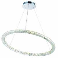 Atom LED 36 inch Chrome Dining Chandelier Ceiling Light