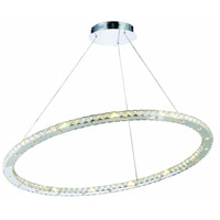 Elegant Lighting Atom 42 Light LED Dining Chandelier in Chrome with Royal Cut Clear Crystal 2065D42C/RC