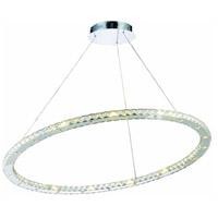 Elegant Lighting 2065D42C/RC Atom LED 42 inch Chrome Dining Chandelier Ceiling Light