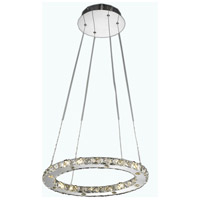 Elegant Lighting Atom 16 Light LED Dining Chandelier in Chrome with Royal Cut Clear Crystal 2067D18C/RC