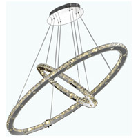Elegant Lighting Atom 48 Light LED Foyer in Chrome with Royal Cut Clear Crystal 2067D40C/RC - Open Box
