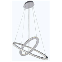 Elegant Lighting Atom 50 Light LED Dining Chandelier in Chrome with Royal Cut Clear Crystal 2067D48C/RC