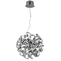 Tiffany 9 Light 19 inch Chrome Chandelier Ceiling Light in Royal Cut