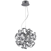 Elegant Lighting Tiffany 13 Light Dining Chandelier in Chrome with Elegant Cut Clear Crystal 2068D22C/EC