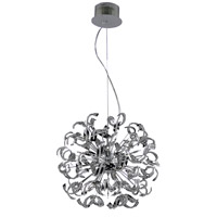 Elegant Lighting Tiffany 25 Light Dining Chandelier in Chrome with Elegant Cut Clear Crystal 2068D27C/EC