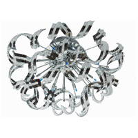 Tiffany 12 Light 15 inch Chrome Flush Mount Ceiling Light in Royal Cut