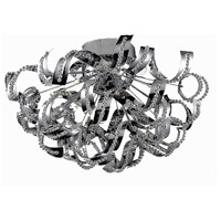 Tiffany 19 Light 12 inch Chrome Flush Mount Ceiling Light in Royal Cut