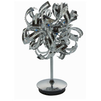 Elegant Lighting Tiffany 6 Light Table Lamp in Chrome with Royal Cut Clear Crystals 2068TL12C/RC