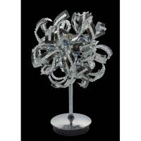 Elegant Lighting Tiffany 6 Light Table Lamp in Chrome with Elegant Cut Clear Crystal 2068TL12C/EC