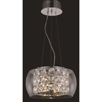 Elegant Lighting Apollo 10 Light Dining Chandelier in Chrome with Elegant Cut Clear Crystal 2069D16C/EC