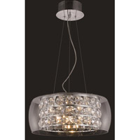 Elegant Lighting Apollo 12 Light Dining Chandelier in Chrome with Elegant Cut Clear Crystal 2069D20C/EC