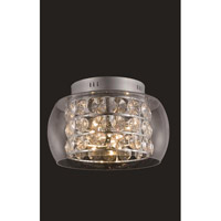 Elegant Lighting Apollo 10 Light Flush Mount in Chrome with Elegant Cut Clear Crystal 2069F16C/EC