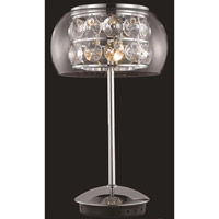 Elegant Lighting Apollo 3 Light Table Lamp in Chrome with Elegant Cut Clear Crystal 2069TL11C/EC