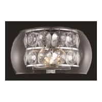 Elegant Lighting Apollo 3 Light Wall Sconce in Chrome with Elegant Cut Clear Crystal 2069W11C/EC photo thumbnail