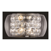 Elegant Lighting Apollo 4 Light Wall Sconce in Chrome with Elegant Cut Clear Crystal 2069W16C/EC