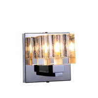 Elegant Lighting Reflection 1 Light Wall Sconce in Chrome with Royal Cut Clear Crystal 2070W1C/RC