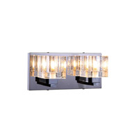 Elegant Lighting Reflection 2 Light Wall Sconce in Chrome with Royal Cut Clear Crystal 2070W2C/RC