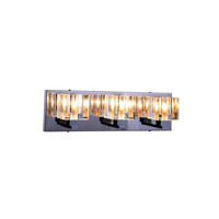 Elegant Lighting Reflection 3 Light Wall Sconce in Chrome with Royal Cut Clear Crystal 2070W3C/RC