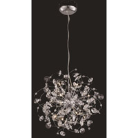 Elegant Lighting Iris 10 Light Dining Chandelier in Chrome with Elegant Cut Clear Crystal 2071D20C/EC - Open Box