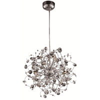 Elegant Lighting Iris 12 Light Dining Chandelier in Chrome with Elegant Cut Clear Crystal 2071D24C/EC alternative photo thumbnail
