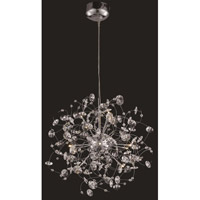 Elegant Lighting Iris 12 Light Dining Chandelier in Chrome with Elegant Cut Clear Crystal 2071D24C/EC photo thumbnail