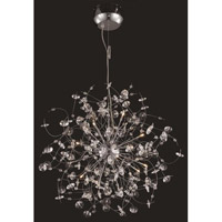 Elegant Lighting Iris 16 Light Dining Chandelier in Chrome with Elegant Cut Clear Crystal 2071D28C/EC