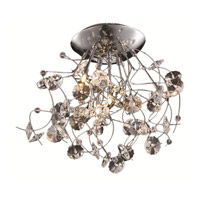 Elegant Lighting Iris 6 Light Flush Mount in Chrome with Elegant Cut Clear Crystal 2071F22C/EC alternative photo thumbnail