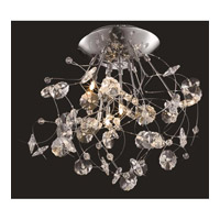 Elegant Lighting Iris 6 Light Flush Mount in Chrome with Elegant Cut Clear Crystal 2071F22C/EC