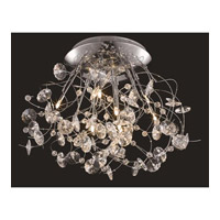 Elegant Lighting Iris 9 Light Flush Mount in Chrome with Elegant Cut Clear Crystal 2071F31C/EC
