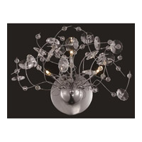 Elegant Lighting Iris 3 Light Wall Sconce in Chrome with Elegant Cut Clear Crystal 2071W16C/EC