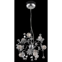 Elegant Lighting Iris 9 Light Dining Chandelier in Chrome with Elegant Cut Clear Crystal 2073D18C/EC