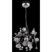 Elegant Lighting Iris 9 Light Dining Chandelier in Chrome with Elegant Cut Clear Crystal 2073D18C/EC