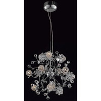 Elegant Lighting Iris 12 Light Dining Chandelier in Chrome with Elegant Cut Clear Crystal 2073D20C/EC