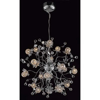 Elegant Lighting Iris 18 Light Dining Chandelier in Chrome with Elegant Cut Clear Crystal 2073D24C/EC - Open Box