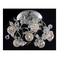 Elegant Lighting Iris 6 Light Flush Mount in Chrome with Elegant Cut Clear Crystal 2073F18C/EC