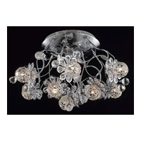 Elegant Lighting Iris 9 Light Flush Mount in Chrome with Elegant Cut Clear Crystal 2073F20C/EC