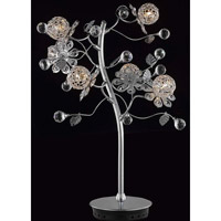 Elegant Lighting Iris 6 Light Table Lamp in Chrome with Elegant Cut Clear Crystal 2073TL18C/EC