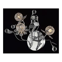 Elegant Lighting Iris 3 Light Wall Sconce in Chrome with Elegant Cut Clear Crystal 2073W18C/EC