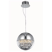 Elegant Lighting Apollo 6 Light Dining Chandelier in Chrome with Elegant Cut Clear Crystal 2074D12C/EC
