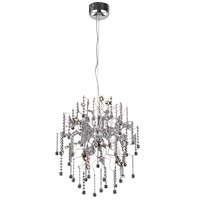 Elegant Lighting Astro 12 Light Dining Chandelier in Chrome with Royal Cut Clear Crystal 2075D24C/RC - Open Box