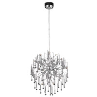 Elegant Lighting Astro 15 Light Dining Chandelier in Chrome with Royal Cut Clear Crystal 2075D28C/RC - Open Box